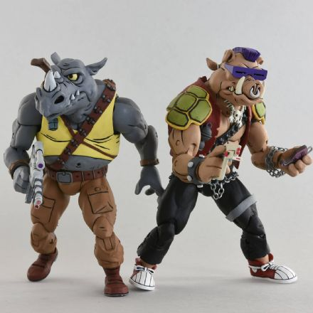 NECA TMNT '87 Bebop & Rocksteady Action Figure 2-Pack (Teenage Mutant Ninja Turtles)
